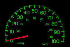 Speedometer on black isolated Stock Image