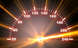 Speedometer on blaze background Royalty Free Stock Image
