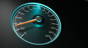 Speedometer Blue Fast Speed Royalty Free Stock Photo