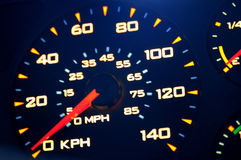 Speedometer, with blur. Stock Photos
