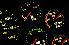 Speedometer, with blur. Stock Photo