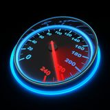 Speedometer car. Speedometer and arrow on 220 (done in 3d Stock Photos