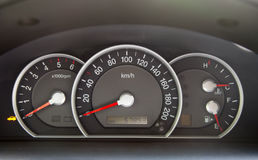 Speedometer  in the car Stock Photography