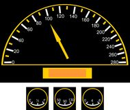 Speedometer on the car Royalty Free Stock Photo