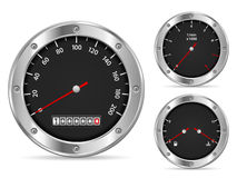 Speedometer. Car dashboard elements on a white background Royalty Free Stock Photography