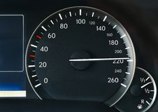 Speedometer of a car Royalty Free Stock Photography