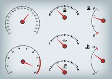 Speedometer for car . Fuel Gauge and Tachometer  Royalty Free Stock Image