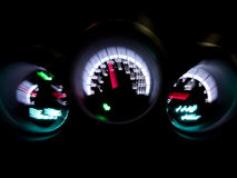 Speedometer car interior Stock Photography