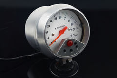 Speedometer in car for measure the velocity Royalty Free Stock Image