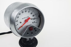 Speedometer in car for measure the velocity Royalty Free Stock Images
