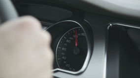 The speedometer of the car stock footage