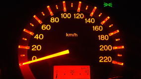 Speedometer of the car for safety. Royalty Free Stock Photo
