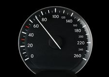 Speedometer of a car Stock Image