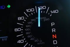 Speedometer. Car speedomoter with mileage clock Stock Image