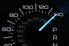 Speedometer. Car speedomoter with mileage clock Stock Images