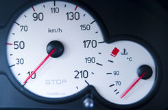 Speedometer clock Royalty Free Stock Photo