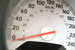 Speedometer close-up Stock Image