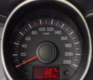 Speedometer close up. Speedometer car close-up. The arrow of the speedometer at zero Stock Image