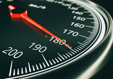 Speedometer close up - 3d rendering Stock Photos