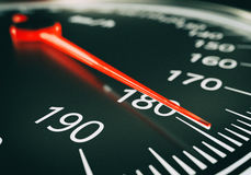 Speedometer close up - 3d rendering Royalty Free Stock Photos
