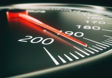 Speedometer close up - 3d rendering Royalty Free Stock Image