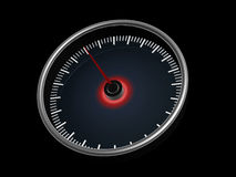 Speedometer on dark background Royalty Free Stock Images