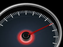 Speedometer on dark background Stock Images