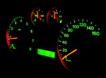 Speedometer in the Darkness Stock Image