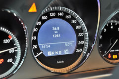 Speedometer on dashboard Royalty Free Stock Photos