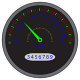 Speedometer dashboard device Royalty Free Stock Photos