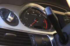 Speedometer on dashboard in the modern car Royalty Free Stock Photography