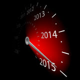 Speedometer. With the date 2015. illustration Stock Photography