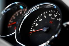 Speedometer detail Royalty Free Stock Images