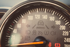 Speedometer detail Royalty Free Stock Photo