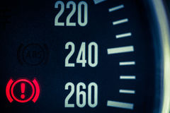 Speedometer detail Royalty Free Stock Photography