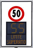 Speedometer. Deterrent for high speed used on italians road Royalty Free Stock Photography
