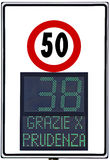 Speedometer. Deterrent for high speed used on italians road Royalty Free Stock Images