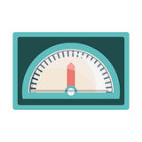 Speedometer device icon. Over white background. vector illustration Royalty Free Stock Photography