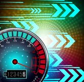 Speedometer with effect glowing background Stock Image