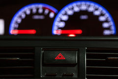 Speedometer with emergency button Royalty Free Stock Photo