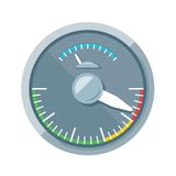 Speedometer flat icon Stock Photos