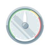 Speedometer flat icon Stock Photography