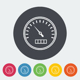 Speedometer flat icon. Speedometer. Single flat icon on the circle. Vector illustration Royalty Free Stock Image