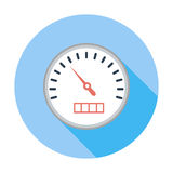 Speedometer flat icon. Speedometer. Single flat color icon. Vector illustration Stock Photography
