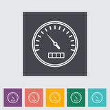 Speedometer flat icon. Vector illustration Royalty Free Stock Photos