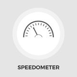 Speedometer flat icon. Speedometer icon vector. Flat icon isolated on the white background. Editable EPS file. Vector illustration Stock Image