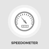 Speedometer flat icon. Speedometer icon vector. Flat icon  on the white background. Editable EPS file. Vector illustration Stock Photo