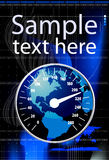 Speedometer in form globe  illustration Stock Images