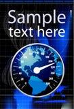 Speedometer in form globe  illustration Stock Images