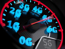 Speedometer 5G evolution Royalty Free Stock Photos